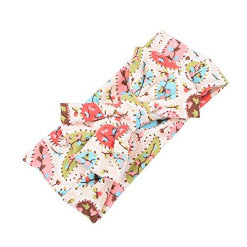 ZUMUii Butterme bébé Coton Mignon Bandes Turban Cheveux Bandeaux Bandeau Fleur Bandeau Bow pour Les Nouveau-nés, Les Tout-Petits et Les Enfants