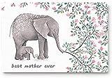 Felpudos para puerta de entrada, mejor madre jamás flores...
