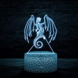 3D Led Light Wings of Fire Rainwings 7 Colors Table Lamp for Kids Home Décor