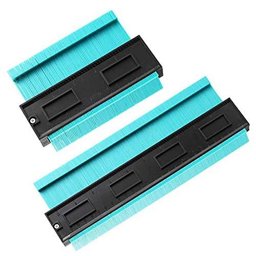 LilyJudy 2 StüCke Kontur MessgerrT Duplizierer 5 Zoll 10 Zoll Multifunktionale Kontur Profil Messer Duplizierer Kanten Form Maa Lineal für Fliesen Laminat Holzbearbeitung Werkzeug