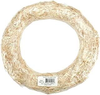 FloraCraft Straw Wreaths, 14-Inch Straw Wreath
