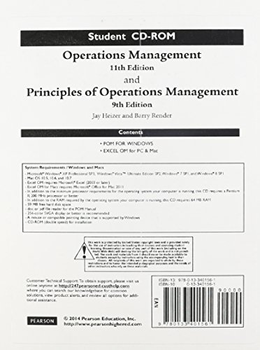 Student CD for Operations Management