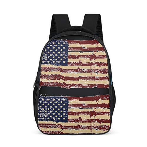 Hothotvery Amerikanische Flagge Studenten Rucksäcke Gedruckt Einzigartig gestaltet Tasche Schulranzen Kinderrucksäcke Passt Für Kind Bright Gray OneSize