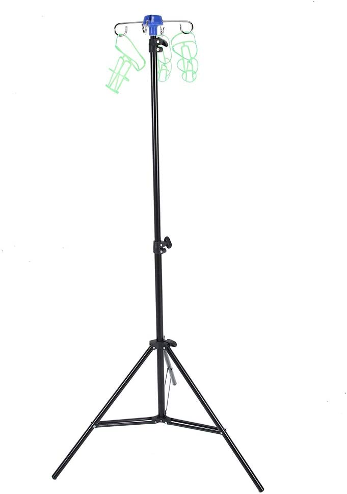 Portable Raleigh Mall IV Pole Stand Popular standard 82.6in Height Foldable Adjustable Flu