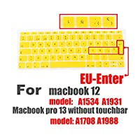 スペイン語EUシリコンキーボードプロテクターカバーFor MacBook用皮膚保護フィルム12インチプロ13カラフルなキーボードフィルムスペイン -M