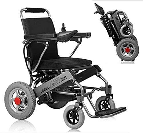 JYHJ Rollstuhl Falten Tragbare Antrieb Elektrische Rollstuhlfahrer Rollstuhl Lithium Ion Batterie Armlehne Einstellbare elektrische Vierradsitz