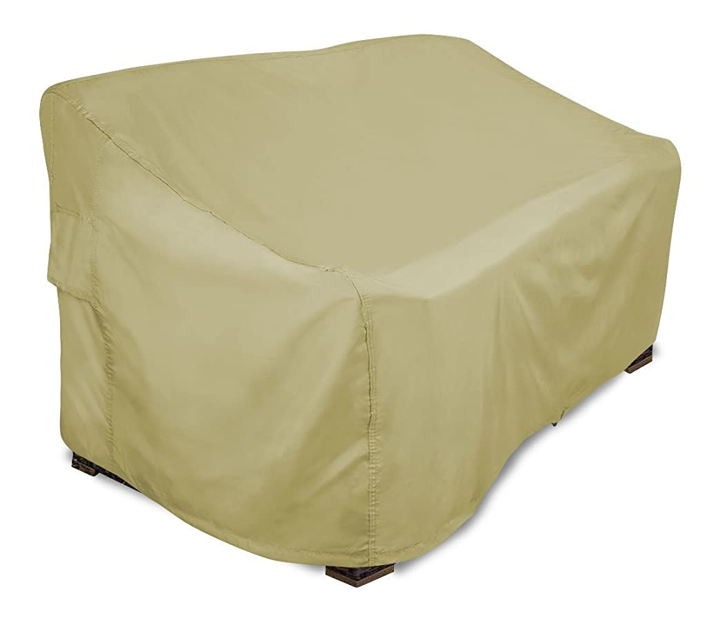 Eevelle Portofino Patio Bench / Loveseat Covers | Tan (Large)