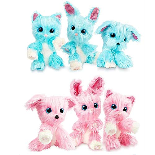 Schattige pop Surprise Bathing Cat Kind Kind Doll Rag Doll Pluche Toy PP Cotton Short Hair Bad Dog/Bath Gift van het Konijn Toy (Color : Blue)