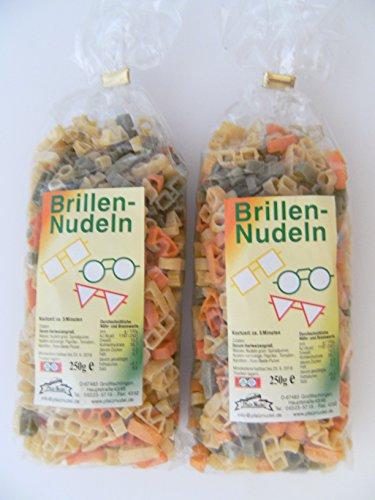 Pfalznudel Streuteile Brillen aus Nudelteig, 2X 250 g, Nudeln, Pasta, Dekoration, Delikatesse