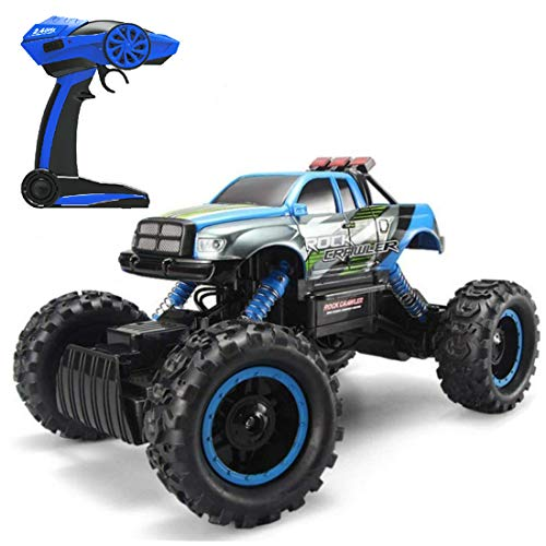 RC Cars for Boys 1:14 Remote Control All Terrain Off Road 2.4 GHz 4WD Radio Controlled Electric Vehicle High Speed Racing Car Gift Toys for Kids & Adults (RC Jeep)