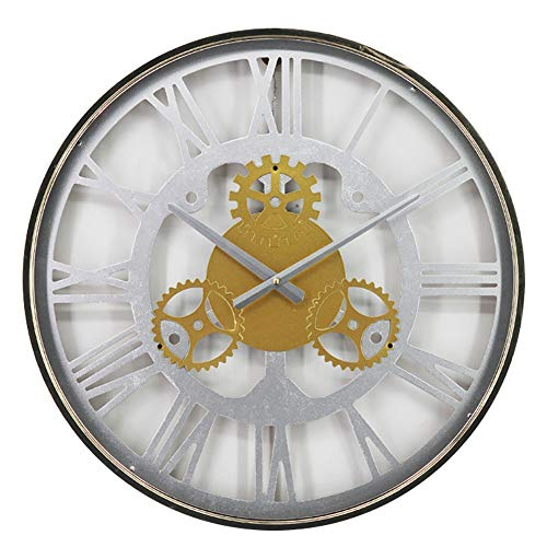 Vintage Wall Clock, Creative Gear decoratieve Opknoping klok met Romeinse cijfers, Indoor Silent wandklokken for Bedroom Living Room (Color : C)