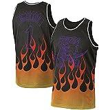 DFGHU Camiseta de manga corta para hombre de baloncesto Raptor de secado rápido y transpirable McGrady Jersey #1 Negro