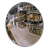 Se-Kure Domes & Mirrors SCVI-18Z Indoor Acrylic Convex Mirror/Z Mounting Bracket, 18' Diameter