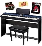 Casio Privia PX-560 - Piano digital con soporte CS-67, pedal SP-33, banco de muebles, libro de instrucciones, DVD instructivo y paño de pulido