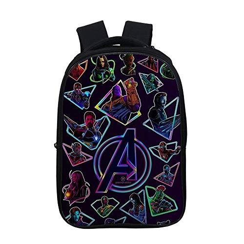 Mochila de Los Vengadores con correa de hombro ajustable, holgada y cómoda, mochila de anime, adecuada para niños y niñas (Avengers34,6 cm)