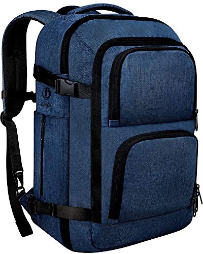 Dinictis 40L Flight Approved Carry on Travel Backpack, Weekender Bag - Blue