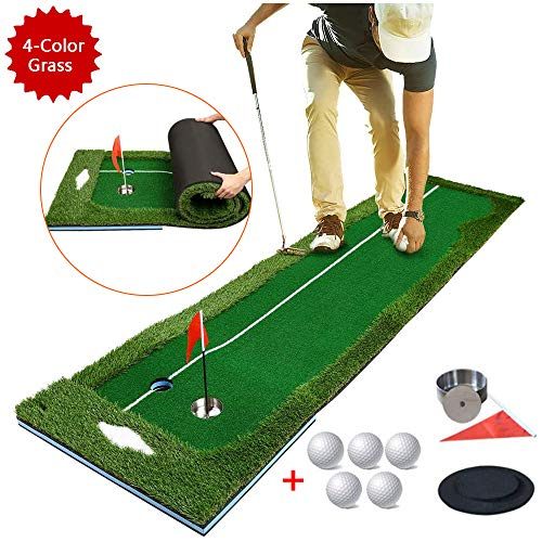 Golf Putting Mat Green - Golf Practice Mat - Indoor Outdoor Professional Training Aid Apparatuur spelen voor kantoor aan huis (50x300cm)