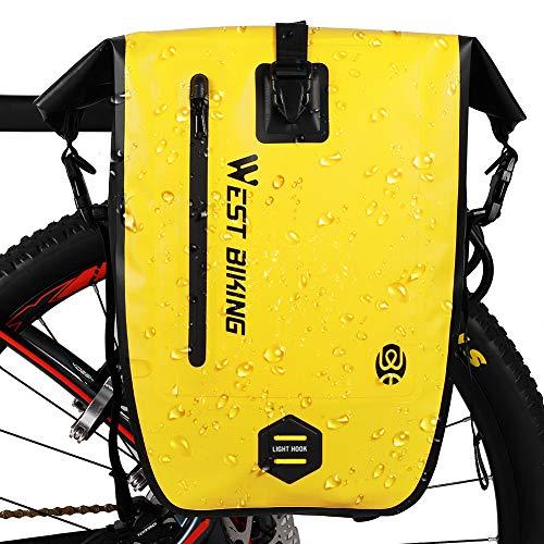 Borsa da bicicletta impermeabile, riflettente, universale, da appendere alla borsa, 25 l, anti strappo, per mountain bike, può essere utilizzata come borsa a tracolla.