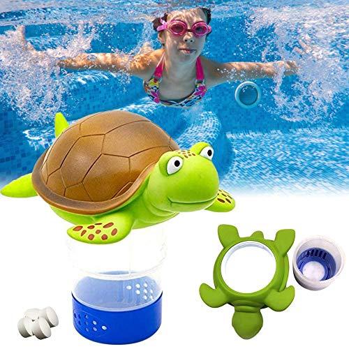 Dequate Pool Dosierschwimmer - Chlordosierschwimmer, Cartoon Chlordosierer für Pool, Pool Chemischen Spender Chlor Dosierer Chlorspender Chlorverteiler Geeignet Für 3 Zoll Chlortablette