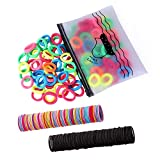 300 Pack Hair Ties BEoffer Baby Toddlers Girls Elastics Hair bands Black Colorful Small Rubber Bands Ponytail Pigtails Holders Not Harm to Hair (Color A)