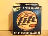 Miller Lite 4 Inch Round Coasters by Miller