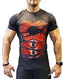 Khroom Camiseta de Compresión de Superhéroe para Hombre   Ropa Deportiva de Secado Rápido para...