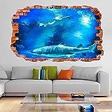 Pegatinas de pared Pegatina de pared de acuario profundo submarino calcomanía mural para habitación de niños