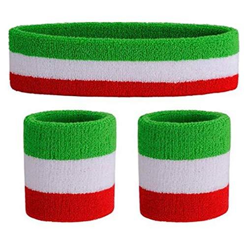Hebon Conjunto de banda de algodón para el sudor, muñequeras para hombres y mujeres, fitness, correr, yoga, artes marciales, danza