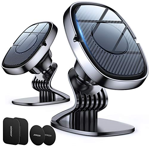 2 Pack【6 Strong Magnets】 Magnetic Car Phone Mount Holder for Dash, Universal Cell Phone Mount for Car Dashboard, 360° Rotation Car Smartphone Cradle Fit for iPhone 12 Pro Max/12/11/XR and More