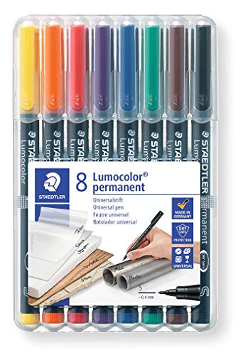 Staedler-Lumocolor Rotulador permanente, colores, (313WP8)