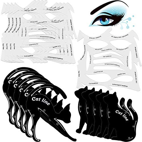 10 Sets 2 in 1 Cat Eyeliner Molds Smoky Eyeliner Stencil Pads Eyeshadow Applicators Eyeliner product image