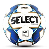 SELECT 2019/2020 Royale Soccer Ball, White/Blue, Size 5