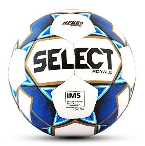 SELECT 2019/2020 Royale Soccer Ball, White/Blue, Size 5