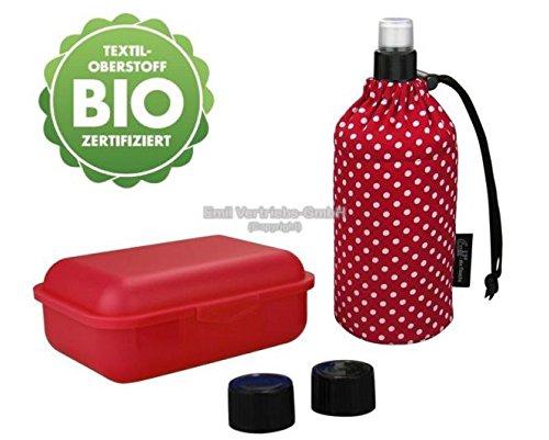 Emil - die Flasche 0,4 L Starter Set Kollektion Trinkflasche Bio-Punkte Rot