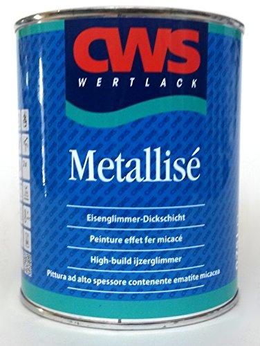 CWS Metallisé anthrazit, 0,75L - Dickschichtiger, lösemittelhaltiger, hochviskos eingestellter 1-Komponenten Beschichtungsstoff als dekorativer Korrosionsschutz für den Innen- und Aussenbereich.