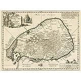 Luyken Old Map of Ceylon Sri Lanka Large Wall Art Poster