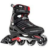 Rollerblade 888341063089 Zetrablade Men's Adult Fitness Inline Skate, Black and Red, Performance Inline Skates