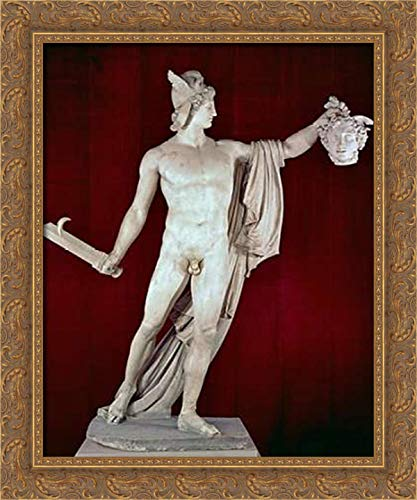 Canova, Antonio 19x24 Gold Ornate Framed Canvas Art Print Titled: Perseus with The Head of Medusa