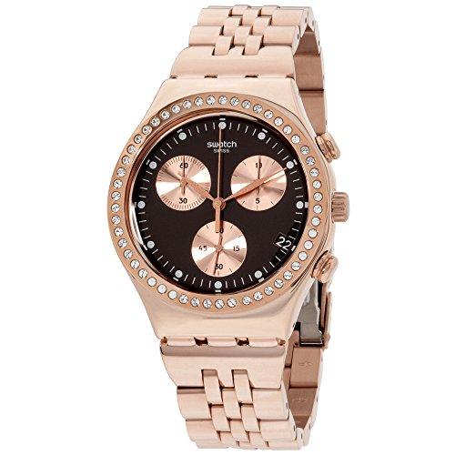Swatch Reloj Cronógrafo para Unisex de Cuarzo con Correa en Acero Inoxidable YCG414G
