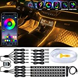 Interior Car LED Strip Lights, LEDCARE 9 in 1 Multicolor RGB Car...