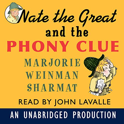 Nate the Great and the Phony Clue audiobook cover art