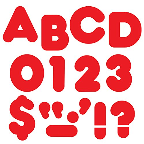 """TREND enterprises, Inc. Red 3"""" Casual Uppercase Ready Letters"""