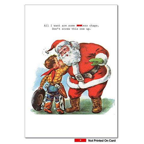 assless Chaps Weihnachten Humor Karte 12 Christmas Card Pack (SKU:B1111) 12 Christmas Card Pack (SKU: B1111)