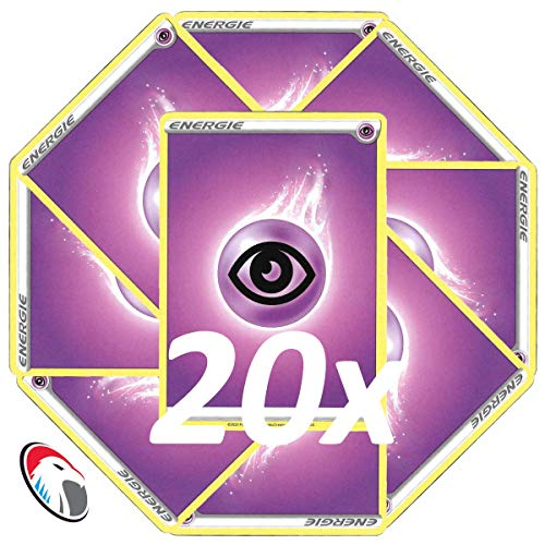Generisch Einsteigerset Pokemon Basis Energie Karten - 20x Psycho Energie - Deutsch Cardicuno