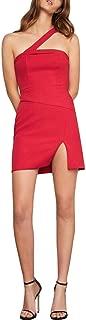BCBG Max Azria Womens Dayne Cut-Out One Shoulder Party Dress