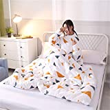 Faulere Quilt Mit ÄRmeln Verdickt Warm Im Winter Kann Quilt Decke Multifunktionale Abnehmbare Lazy Quilt Sofa Decke Tragen-2_110Cm*150Cm/1.3Kg