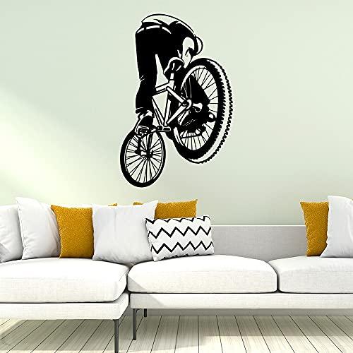 Bonita bicicleta deportiva decoración del hogar calcomanía de PVC para habitación de niños, sala de estar, decoración del hogar, pegatina de pared impermeable -30x46cm