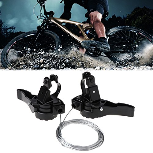 Lergo Fahrrad Schalthebel Speed 15/18/21 Universal Hebel Mountainbike mit Kabelauslöser - 4