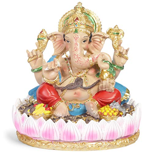 Juvale Ganesha Hindu Elephant God Statue (7 in)