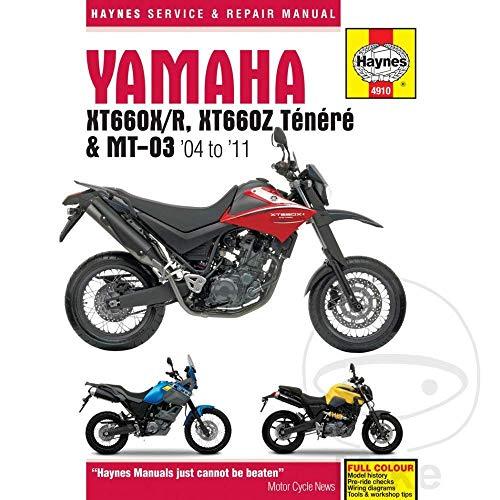 HAYNES 4910 YAMAHA XT660 & MT-03 (04-11) MANUAL nuevo